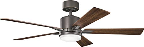 Kichler Lighting 330000OZ Lucian-52 Ceiling Fan with Light Kit, Cherry/Walnut Blade Finish, Olde Bronze ()