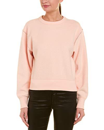 (Rag & Bone/JEAN Women's Brushed Inside Out Terry Sweatshirt, Dusky Pink, X-Small)