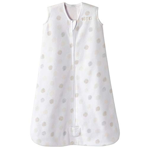 (Halo Sleepsack Microfleece Wearable Blanket, Dot Sketch White, Large)