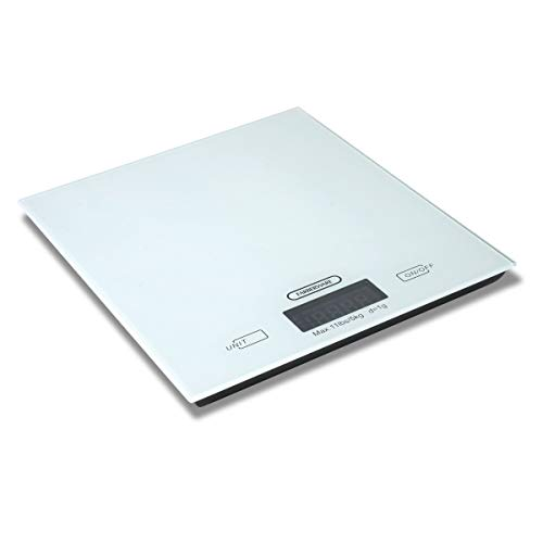 Farberware Professional Glass Top Digital Kitchen Scale, White (Renewed)