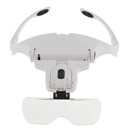 Dovewill 5 Lens Headset Magnifying Glass LED Lamp for Eyelash Extension Microblading -