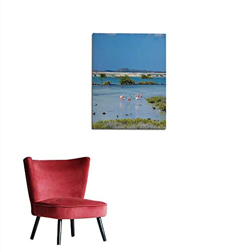 Antilles Netherlands Note (longbuyer Photographic Wallpaper Flamingos in The Salt Flats in Bonaire (Netherlands Antilles) Mural 24
