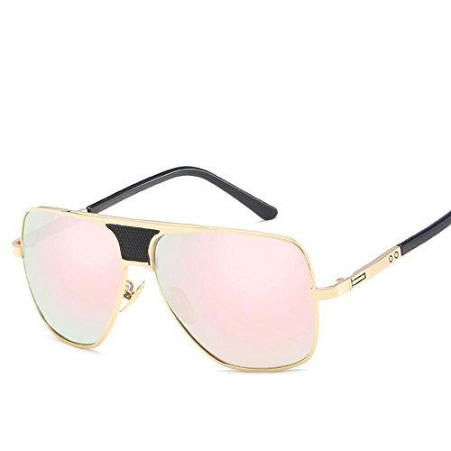 Aoligei L'Europe et les États-Unis en métal lunettes de soleil grand cadre général Chao mans lunettes de soleil lunettes de soleil plates phEQBvan
