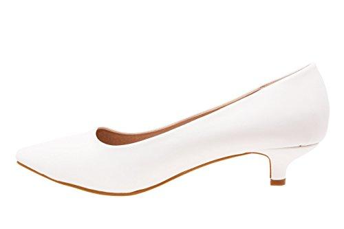 Andres Machado.AM423.Salon Soft Punta Fina.Mujer.Tallas Grandes 42/45 Blanco.N