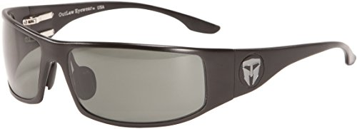 Outlaw Eyewear Travis Manion Hero Fugitive TAC Black Frame, Polarized Gray - Outlaw Sunglasses