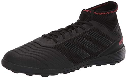 adidas Men's Predator 19.3 Turf, Black/Active red, 9 M US