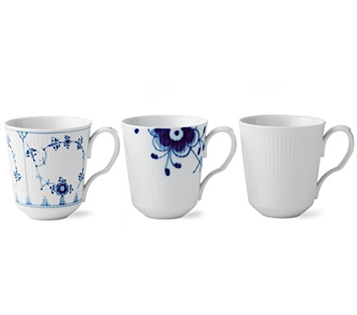 Royal Copenhagen Gift Set - Royal Copenhagen Gifts with History Set of 3 Mugs