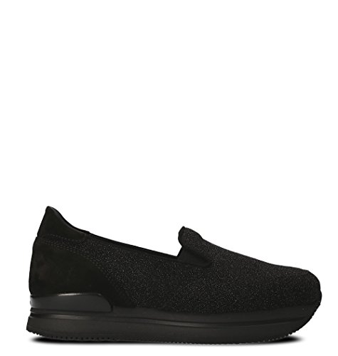 Hogan Damen Hxw2220t670h1kb999 Schwarz Leder Slip On Sneakers