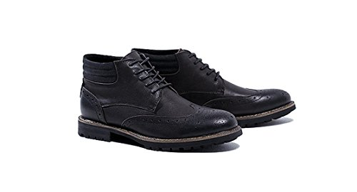 Martin Marrone MSM4Men's Pelle Scarpe Shoes Nero Black In Block Style Casual Wear wCvqZE