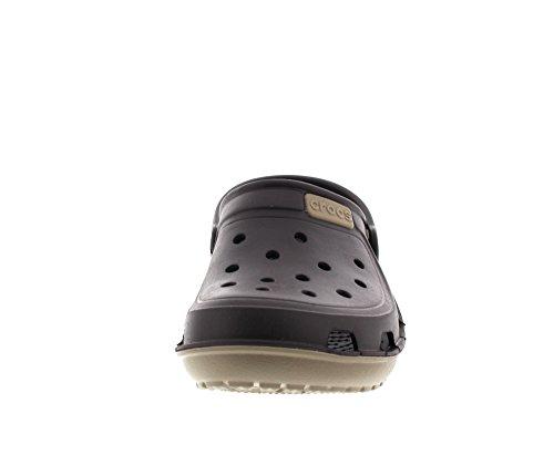 Wave 22y Khaki Crocs Adults' Espresso Braun Unisex Clogs Duet 550xnrF8