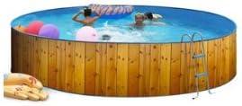 TOI - Piscina redonda decorada modelo veta - 450x90: Amazon.es: Hogar