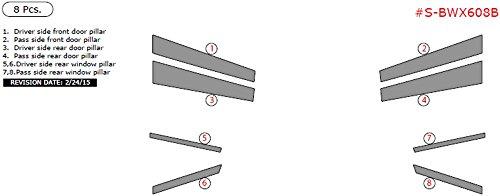 Exterior Trim S-BWX608B-MF BMW X6 Stainless Steel Pillar Posts, 8 Pcs. Mirror Finish