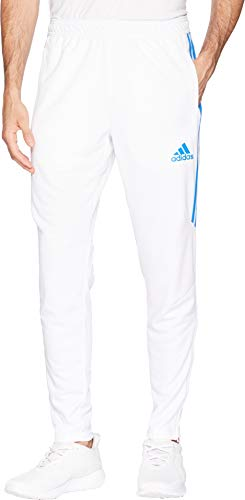 adidas Men's Soccer Tiro 17 Training Pants, White/Bluebird, Medium (Bluebirds The)