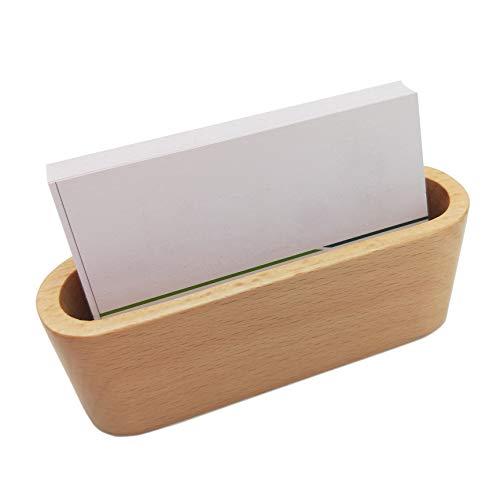 Card Holder Card Display ,Card Stand for Desk Desktop Name Card Holder for Tables Organizer (Brown) ()