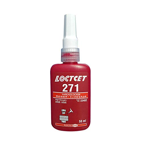 Heitaisi 50ML 271 Thread Locker Glue Screw Glue Anaerobic Glue Red Glue Medium Strength Threadlocker 271 Anaerobic Adhesive for LOCTZTE