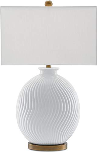 Currey & Company Table Lamp Alcazar Oval Body Rectangular Shade Rect (Currey Lamp Table Rectangular)