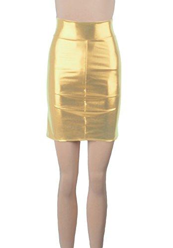 Howriis - Falda - ajustado - para mujer Mehrfarbig - Light Gold