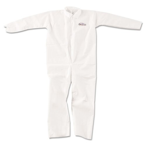 Kimberly Clark 49004 KLEENGUARD A20 Breathable Particle-Pro Coveralls, Zip, XL, White, 24/Carton