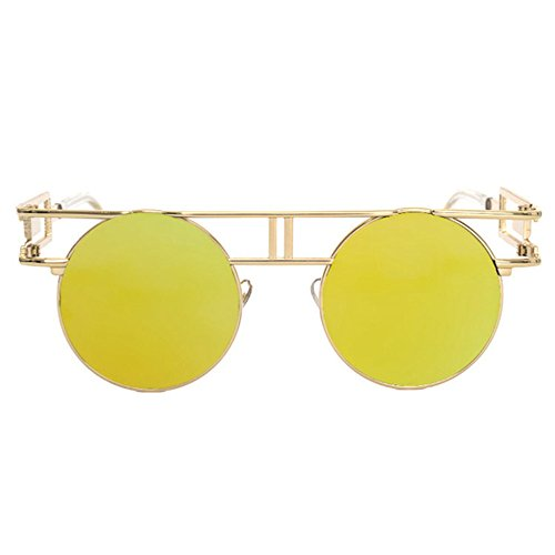 D Aoligei de reflectante retro sol gafas de hombre Gafas Dama brillante góticos sol de punk gafas retros qxwCaq0rH