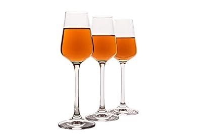 Small Liquor Glasses Set (6 pack), Hard & Durable Crystal Clear Stemware - 2.1 Oz / 65ml