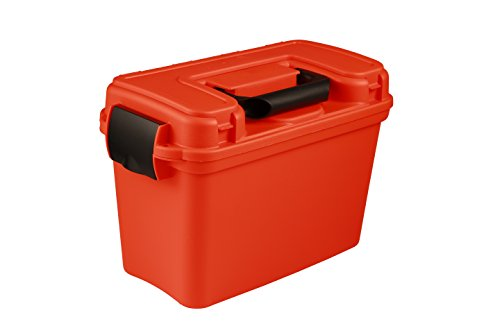 Attwood 11834-1 Boater's Dry Box, Bright Safety Orange (Marine Electronics Box)