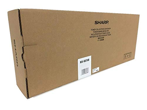 MX607HB Genuine Sharp Waste Toner Collection Container, 50000 Page-Yield
