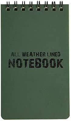 Mooyod Wasserfest Notizbuch Allwetter Papier Außen Regen Notizblock 3 X 5inch