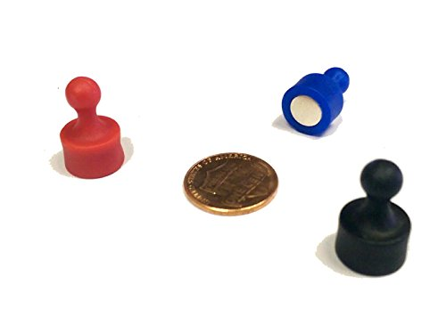 24 Black Pawn Magnetic Push Pins - Perfect for Maps, Whiteboards, Refrigerators