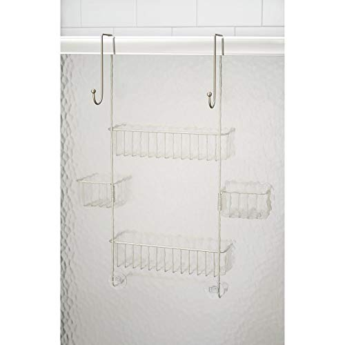 InterDesign Metalo Adjustable Over Door Shower Caddy – Bathroom Storage Shelves for Shampoo, Conditioner and Soap, Satin by InterDesign (Image #4)