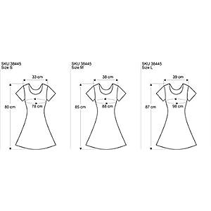 Guru-Shop, Sicuro Camicia Lunga, Miniabito OM Tree, Magliette Stampate `Sura
