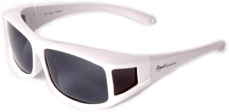 Rapid Eyewear SONNENÜBERBRILLE Polarisiert Weiße Überbrille. Sonnenbrille die über die eigene Brille passt. Für Damen und Herren Brillenträger. Überziehbrille für Sport, Fahrrad, Fahren etc