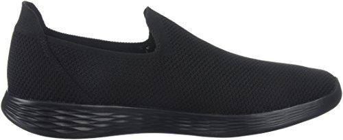 sin Negro Skechers Mujer Zapatillas Define Zen para Cordones You SnxBx18T