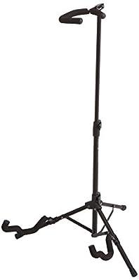 AmazonBasics Folding Tripod Guitar Floor Stand - 19 x 18 x 33 Inches, Black