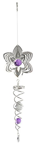 Red Carpet Studios 31115 Stainless Steel Suncatcher Flower with Purple Beads by Red Carpet