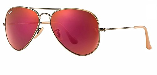 Ray Ban RB3025 167/2K 58M Demiglos Brushed Bronze/Red Mirror Aviator