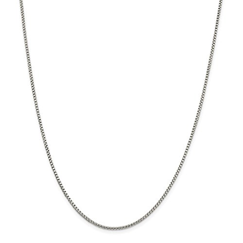 925 Sterling Silver 1.75mm Round Link Box Chain Necklace 20 Inch Pendant Charm Fine Jewelry Gifts For Women For Her - Sterling Silver Link Cable 4mm
