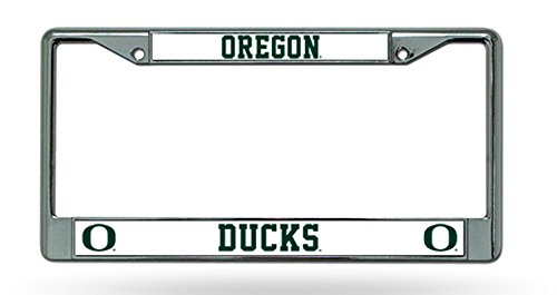 Plate Metal Ducks License - Oregon Ducks NEW DESIGN Chrome Frame Metal License Plate Tag Cover University of