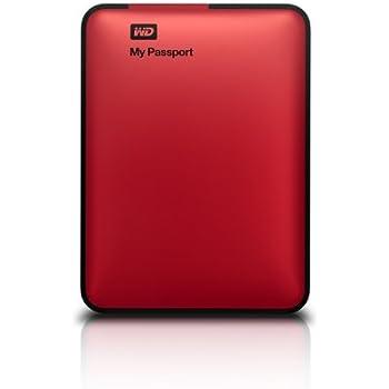 WD My Passport 1TB Portable External Hard Drive Storage USB 3.0 Red (WDBBEP0010BRD-NESN)