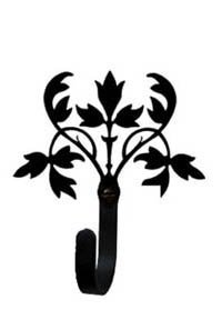 WH-173-Extra Small Floral Wall Hook Extra - Village Manhattan Stores