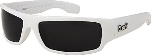 White Frame LOCS Hardcore - Sunglasses White Womens