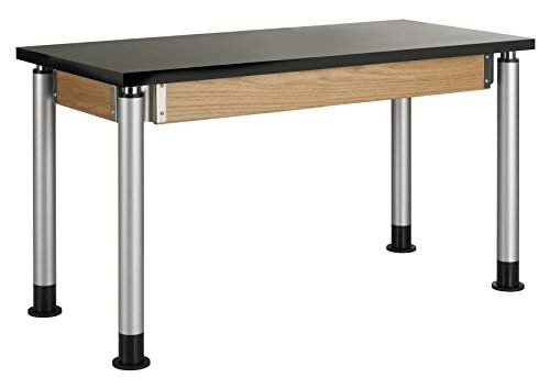 DIVERSIFIED WOODCRAFTS P8102K Adjustable Table, Chemguard Top, 4 Cubes, 48