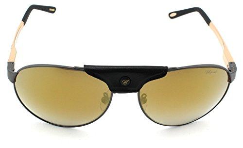 54794f8cd47 Chopard SCH 932 Unisex Aviator Metal Sunglasses (Black Gold Frame ...