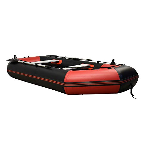 JASSCOL Family Weekend Inflatable Sport Dinghy Tender Boat Heavy Duty Salt Freshwater