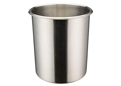 Winco BAMN-6, 6-Quart Stainless Steel Bain Marie Pot W/О Lid, NSF, Double Boiler, Sauce Pot