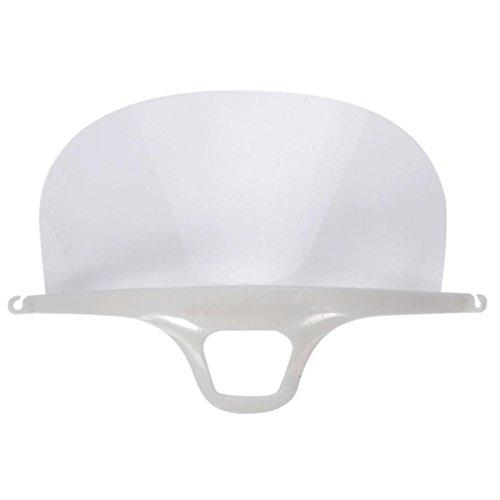 Plastic Masks,Putars Portable 10Pcs Plastic Reusable Hygiene Sanitary Mask Transparent Permanent Anti-fog kit White (Transparent Plastic Mask)