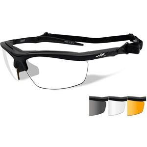 Wiley X Guard Sunglasses, Smoke Grey/Clear/Light Rust, Matte Black ()
