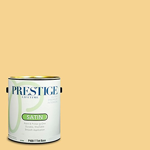 Prestige Paints Interior Paint and Primer In One, 1-Gallon, Satin,  Comparable Match of Sherwin Williams Jonquil