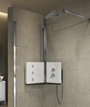 Columna de ducha de ángulo modelo sint con alcachofa. Ducha ...