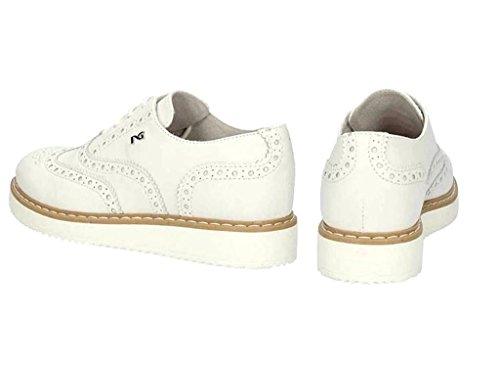 Nero Giardini Junior - Zapatos de cordones de Piel para mujer Bianco