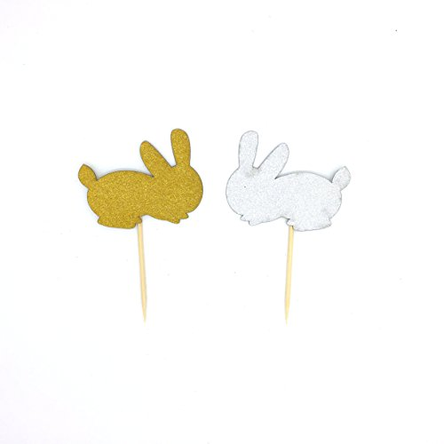 And Gold Easter Rabbit Cupcake Toppers ()